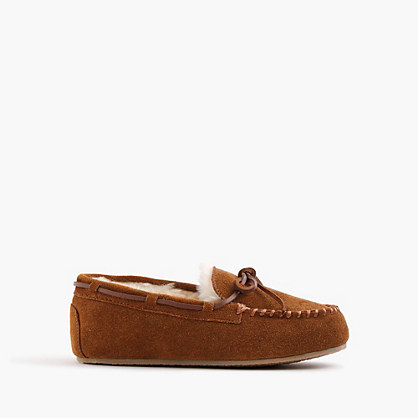 Kids' shearling lodge moccasins