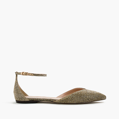 Sadie ankle-strap flats in glitter