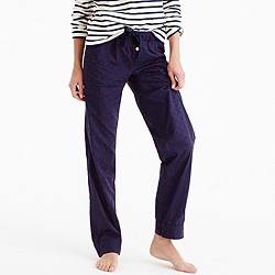 Tall pajama pant with velvet dots