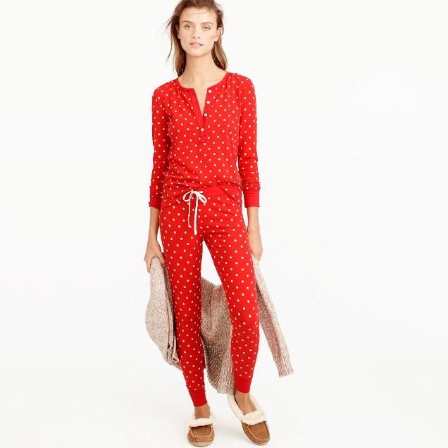 Knit Pajama Set In Polka Dot : Women's Pajamas & Sleepwear | J.Crew