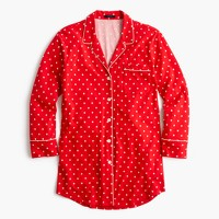 Knit nightshirt in polka dot