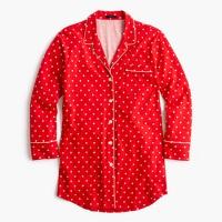 Knit nightshirt in polka dot
