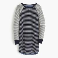 Knit nightshirt in mixed stripe