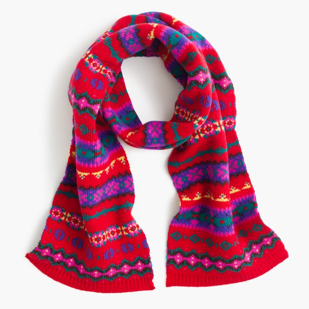 Girls' Fair Isle scarf