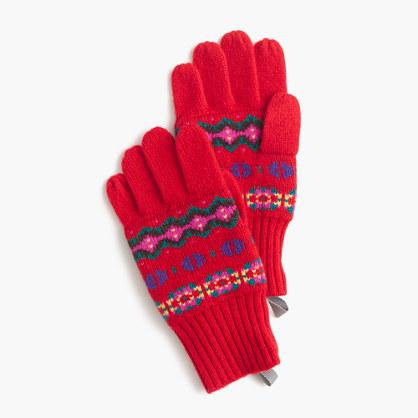 Girls' Fair Isle gloves