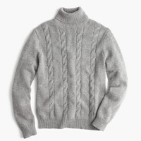 Italian cashmere cable turtleneck sweater