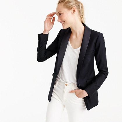 Tuxedo blazer with Italian satin lapel