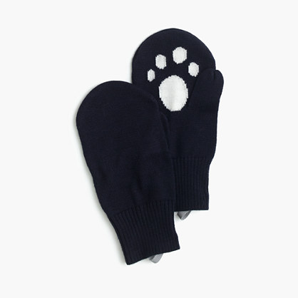 Girls' kitty mittens