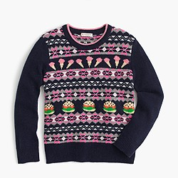 Girls' food Fair Isle sweater