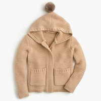 Girls' wool hoodie jacket