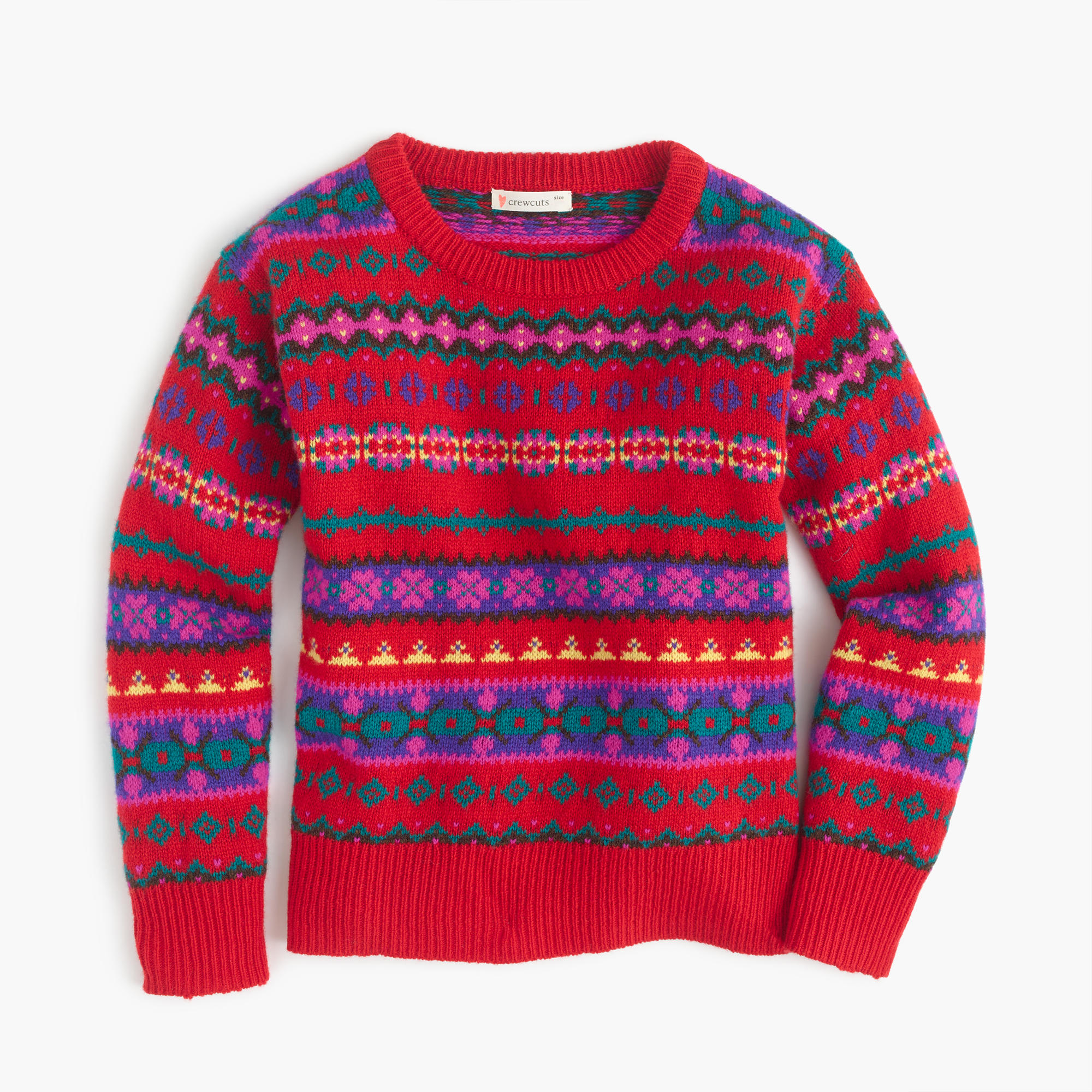 holly sweater in fair isle girls 39 sweaters j crew. Black Bedroom Furniture Sets. Home Design Ideas