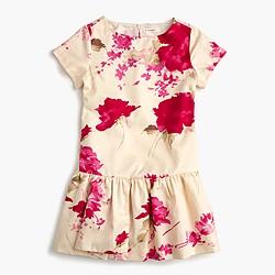 Girls' floral splash dress