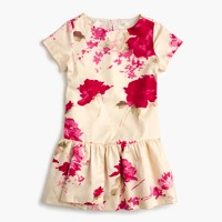 Girls' floral splash dress
