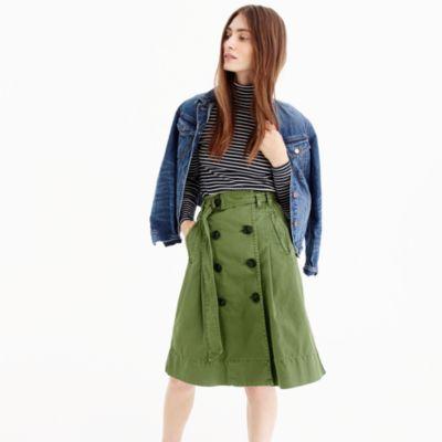 Chino trench skirt