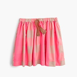 Skirt in neon buffalo check