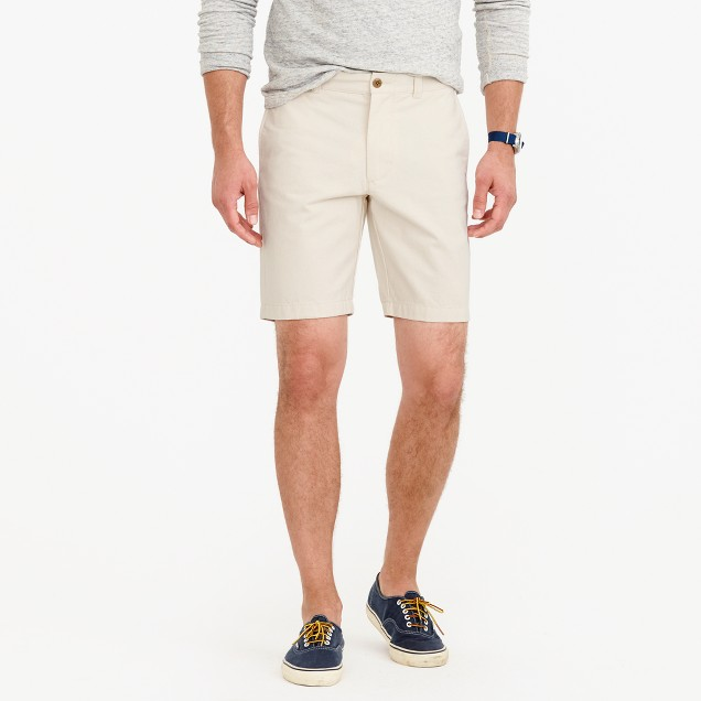 "J.Crew Mens 9"" Seeded Cotton Shorts"