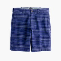 "9"" short in textured blue stripe"
