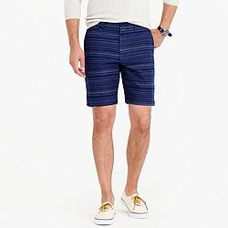 """9"""" short in textured blue stripe"""