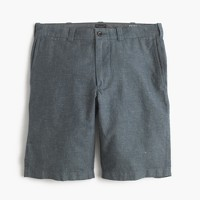 "10.5"" short in cotton-linen"