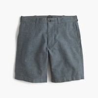 "9"" short in cotton-linen"