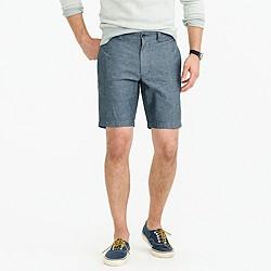 "9"" short in cotton-linen"