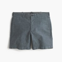 "7"" short in cotton-linen"