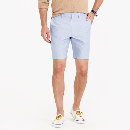 """9"""" solid oxford short"""