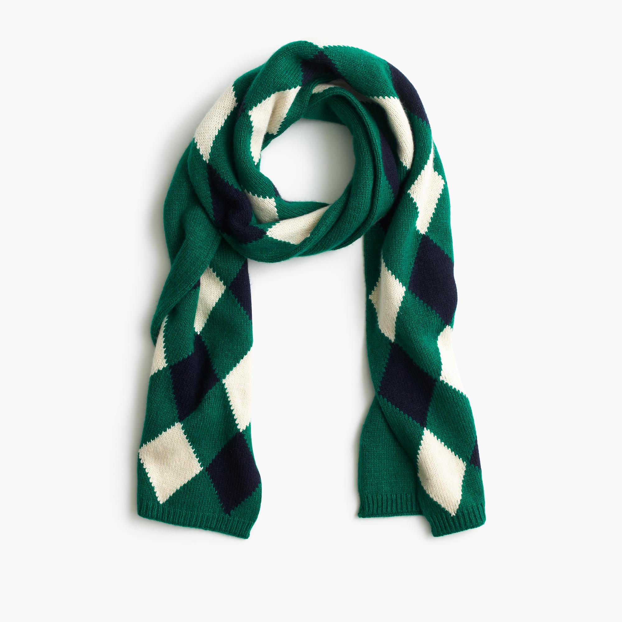 wool scarf in argyle s winter scarves j crew