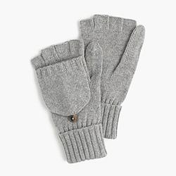 Ribbed wool-blend glittens