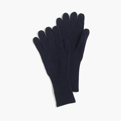 Tech-friendly ribbed gloves