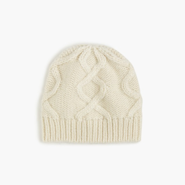 Cable hat in Italian wool blend