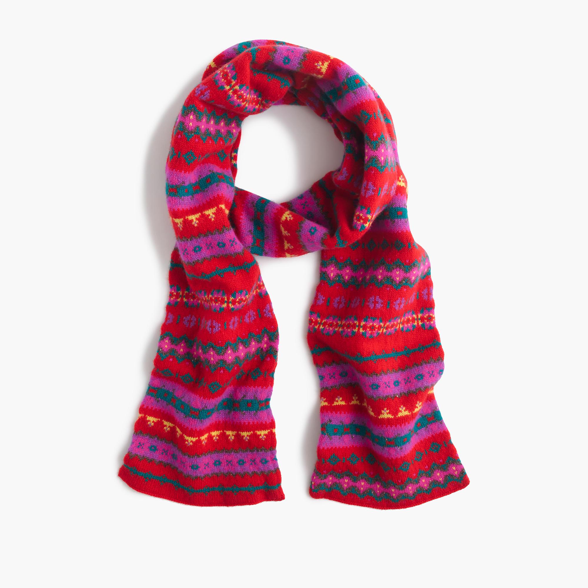 wool scarf in fair isle s winter hats j crew