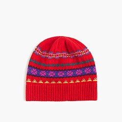 Wool hat in Fair Isle