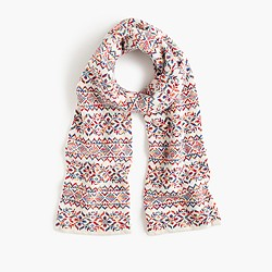 Colorful Fair Isle scarf