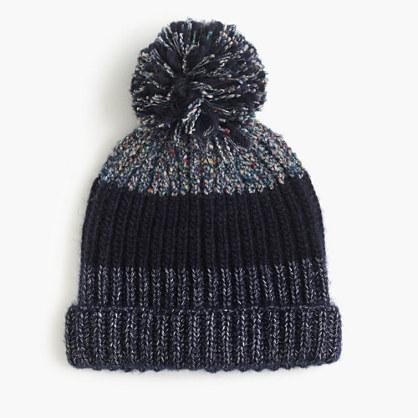 Italian wool-blend striped hat