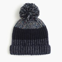 Italian wool-blend striped hat