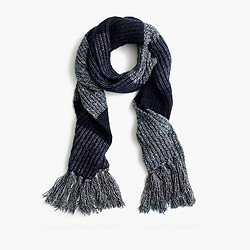 Italian wool-blend striped scarf