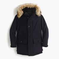 Nordic down parka in wool