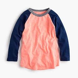 Boys' three-quarter-sleeve baseball T-shirt in the softest jersey