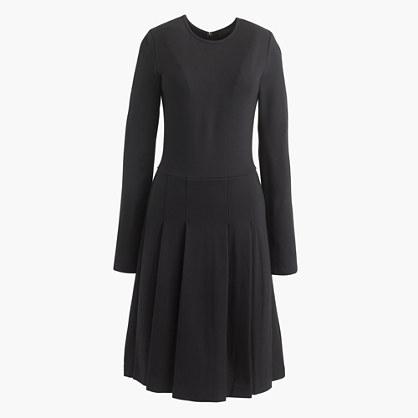 Pleated ponte dress