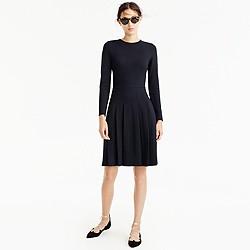 Petite pleated ponte dress