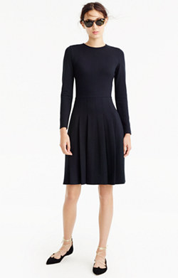 Pleated ponte dress