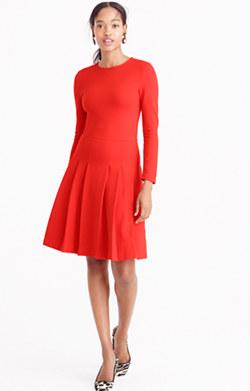 Pre-order Pleated ponte dress