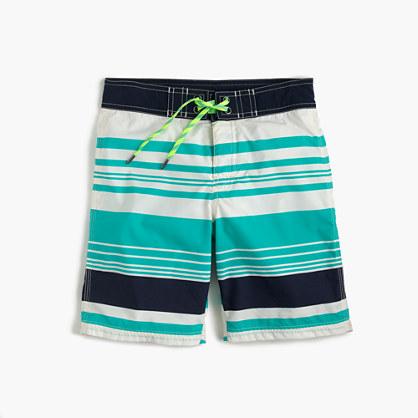 Boys' board short in beachway stripes