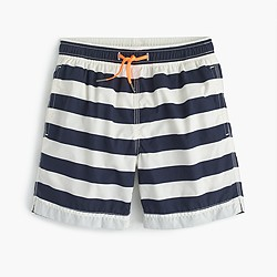 Boys' board short in stripes
