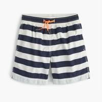 Boys' board short in stripes