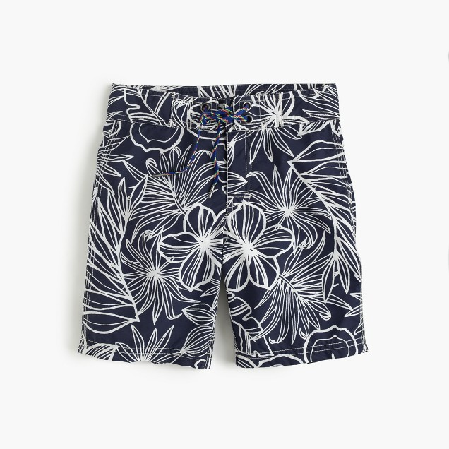 Boys' board short in halani floral