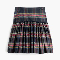 Petite taffeta skirt in Stewart plaid