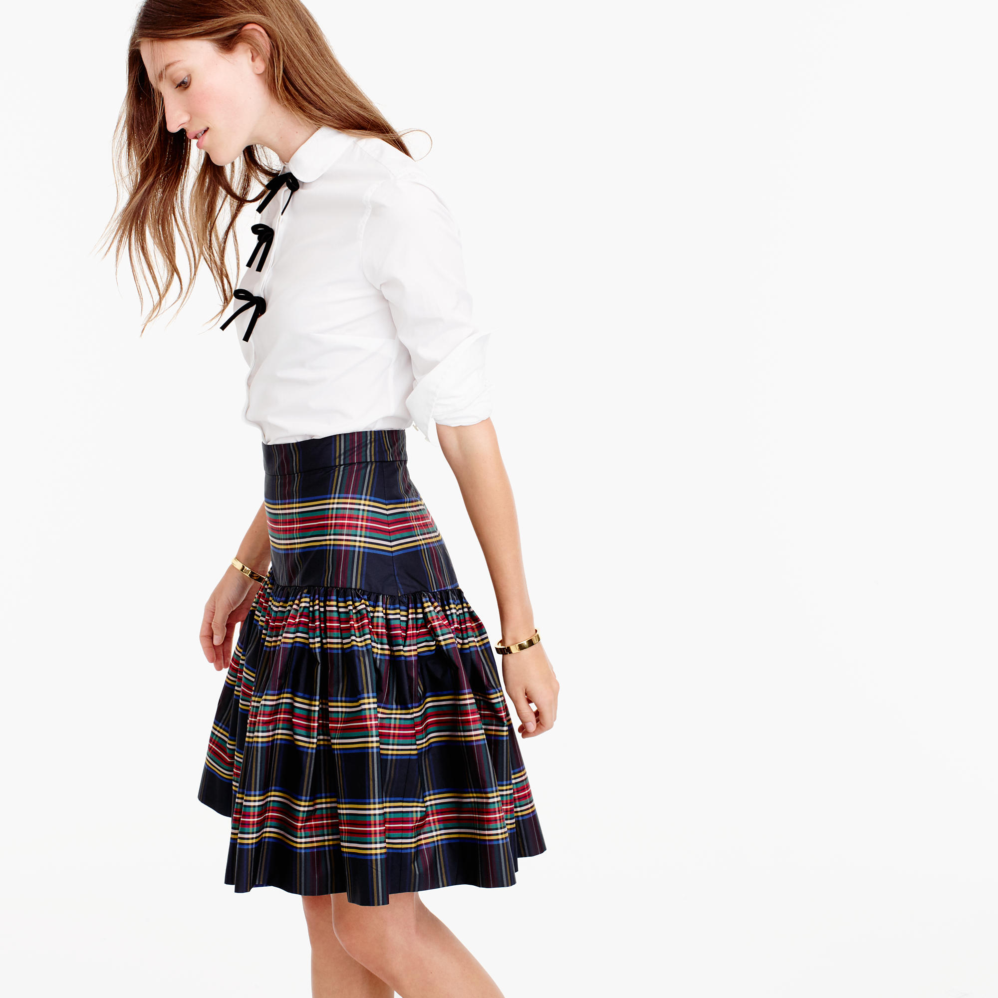 Petite Taffeta Skirt In Stewart Plaid : Women's Skirts | J.Crew