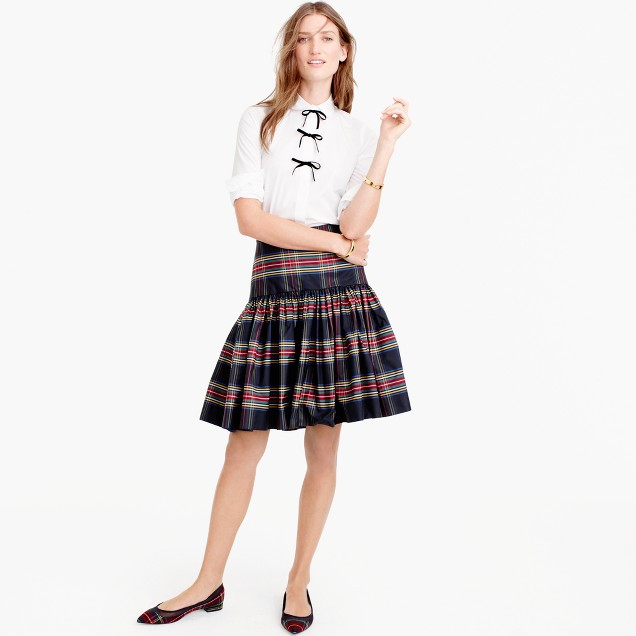 Taffeta skirt in Stewart plaid